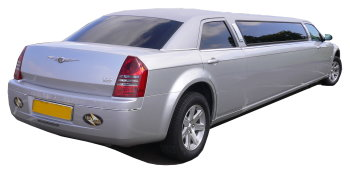 Chauffeur driven silver Chrysler 300 stretched limousine - School Proms, Birthdays, Anniversaries in Tunbridge Wells and beyond.